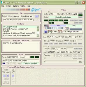 GSPOT Screenshot of Sherlock Holmes